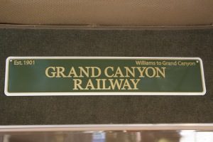 Sign in one of the train cars