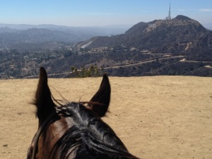 Hollywood sign off in the distance