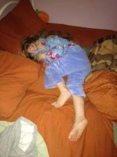 Sleeping in