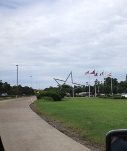 Star and flags at rest area
