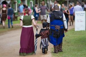 Even visitors dressed in period costume