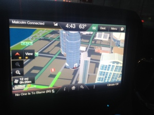 Interesting 3D perspective on the truck's GPS