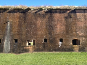 Original fort brick wall.