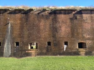 Original fort brick wall.