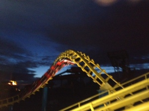 Cold roller coaster riders