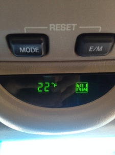 A balmy 22 degrees in Atlanta