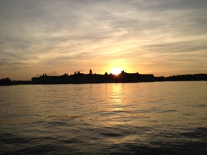 Sunset over the Grand Floridian