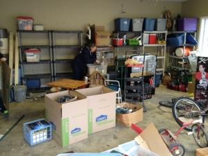 Working on the garage