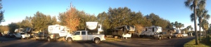 Panoramic view of our rigs at Lazydays