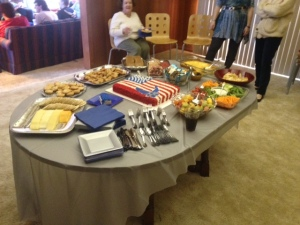 Food all spread out