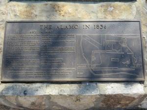 Plaque at Alamo