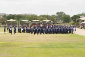 Giving their oath of enlistment
