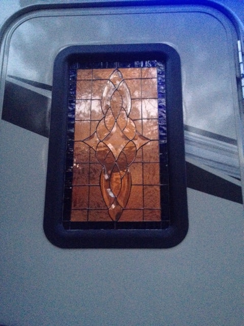 How To Installing A Stained Glass Window In The Trailer