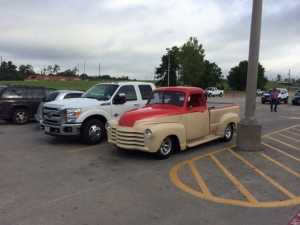 Cool old pickup truck in Lowes parking lot