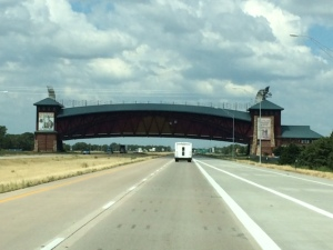 Great Platt River Road Arch on I-80
