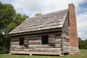 Andrew Jackson's original home here, subsequently turned into slave quarters
