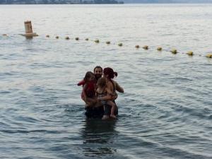 Wet group hug