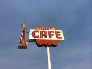 Apple Cup Cafe sign