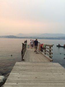 Walking out the dock