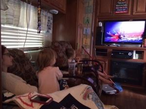 Watching Fantasia at Nana's place