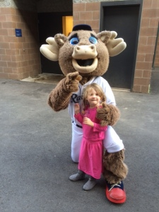 Violet and the team mascot