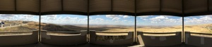 Panorama from scenic overlook building