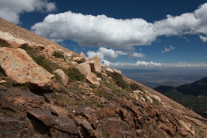 View on the way up to Pikes Peak