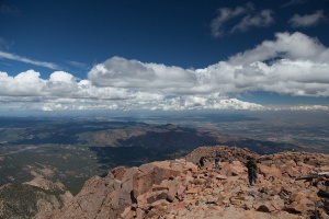 View from the top of Pikes Peak