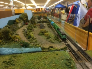 Part of a huge model train layout