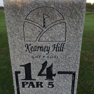 Golf course marker