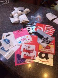 Gift cards aplenty