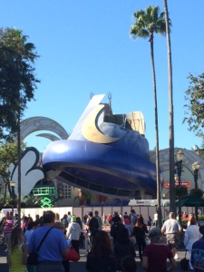 They are tearing down Mickey's Fantasia Hat