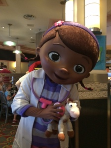 Doc McStuffins gives Bullseye a clean bill of health