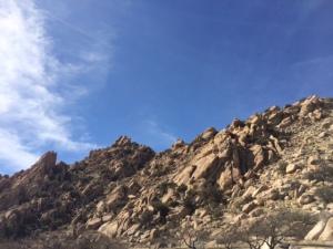 Rocks at rest stop in Arizona