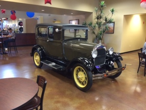 Model A in the Ford Dealer Showroom