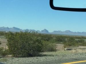 Scenery along I-10 near Quartzsite, Arizona
