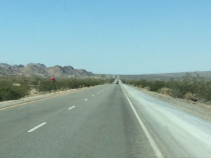 The lonely road (I-10) between Blythe and Indio, CA