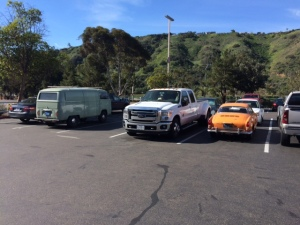 Surrounded by old VWs at Costco