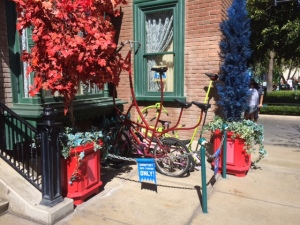 Bikes parked at Monsters University