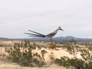 Road Runner sculpture at rest stop