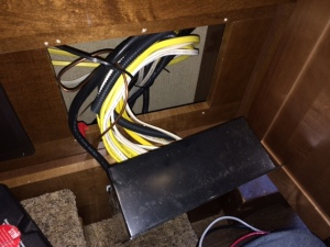 Pulling out electrical box for EMS install