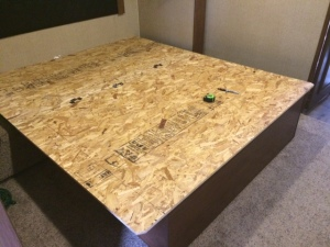 Bed platform cut down to queen size