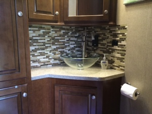 Backsplash finished (covering the switch holes in the process)