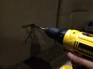 Drilling corner holes