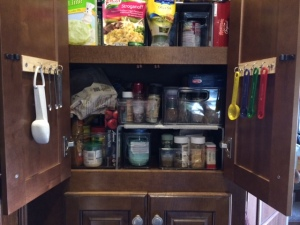 Measuring spoons in the pantry