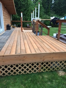 One end of the deck complete