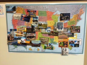 The Postcard Map at Work