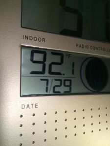 After running the air conditioners for about 20 minutes. Probably was close to 100 earlier.