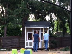 Starting roof work