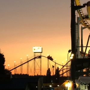 Sunset at the fair
